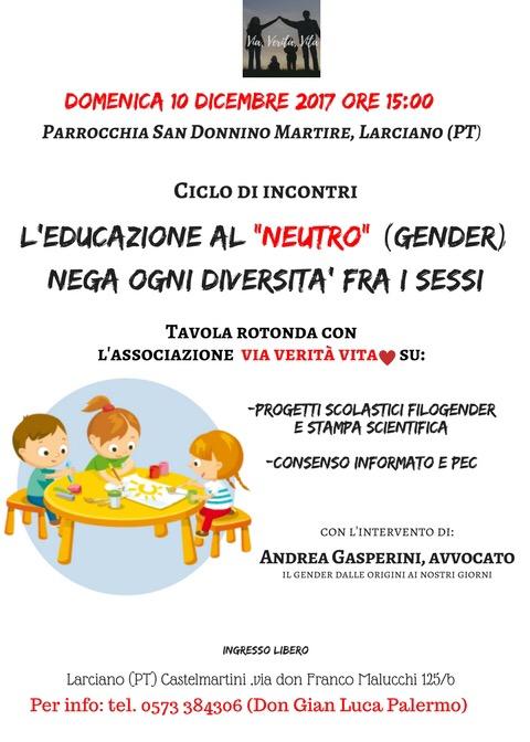 Incontri Educazione Gender 10-12-2017