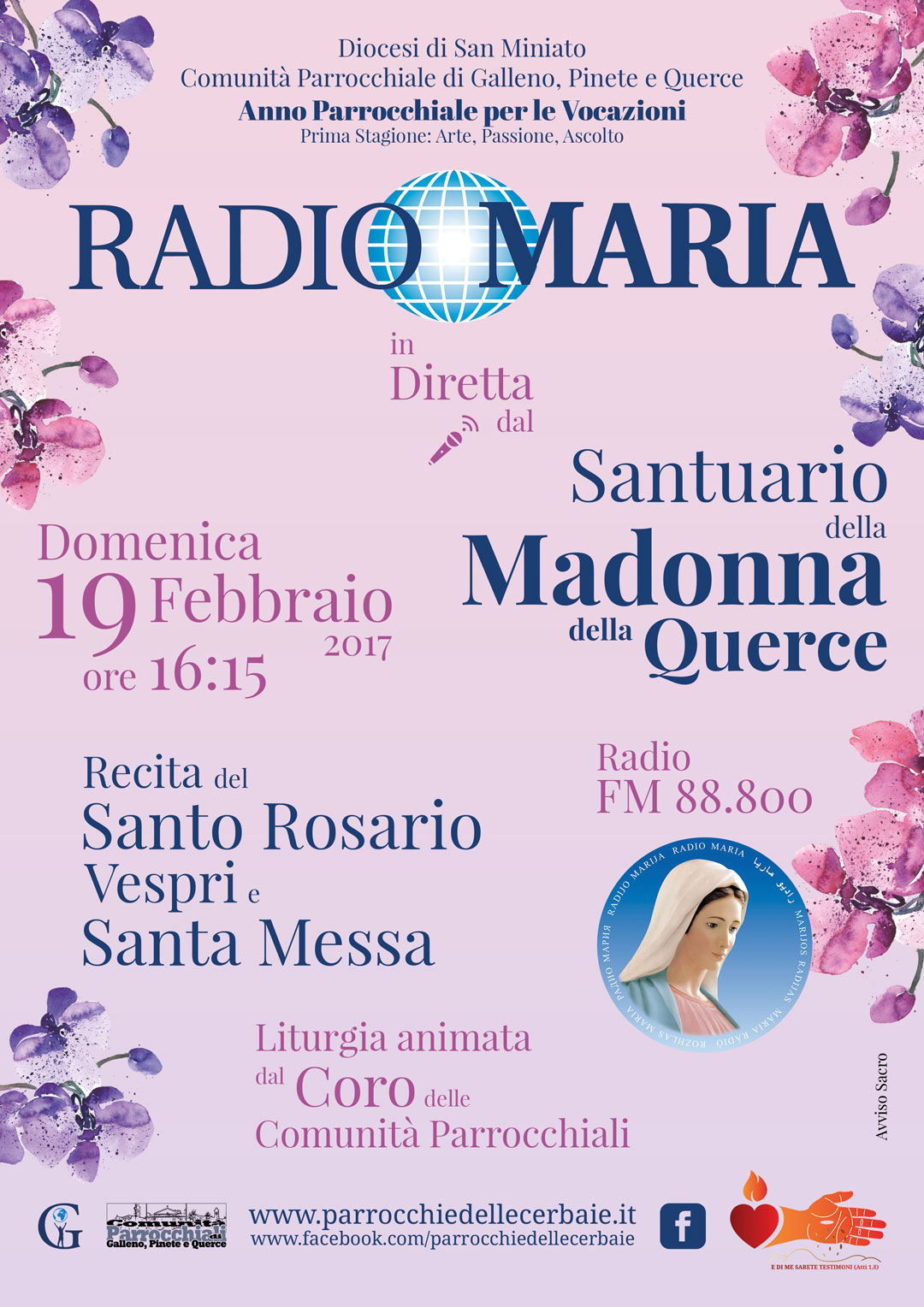 Radio Maria al Santuario di Querce 19-2-2017