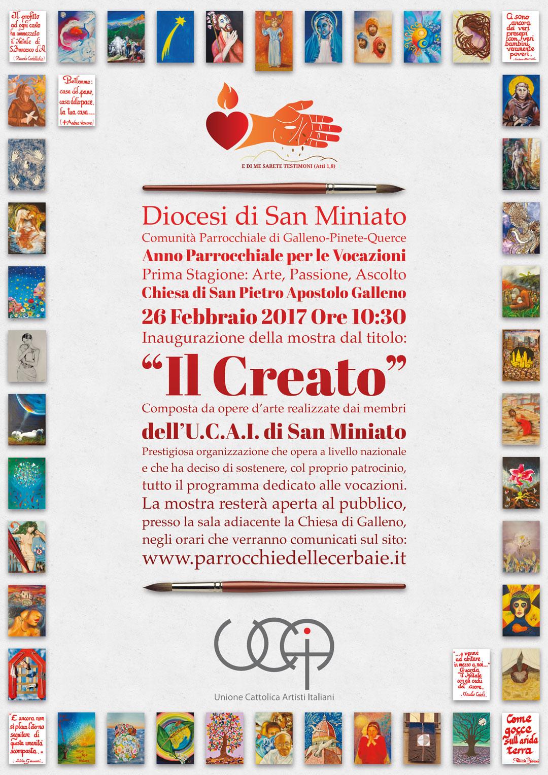 Mostra d'arte dell'UCAI a Galleno 26-2-2017