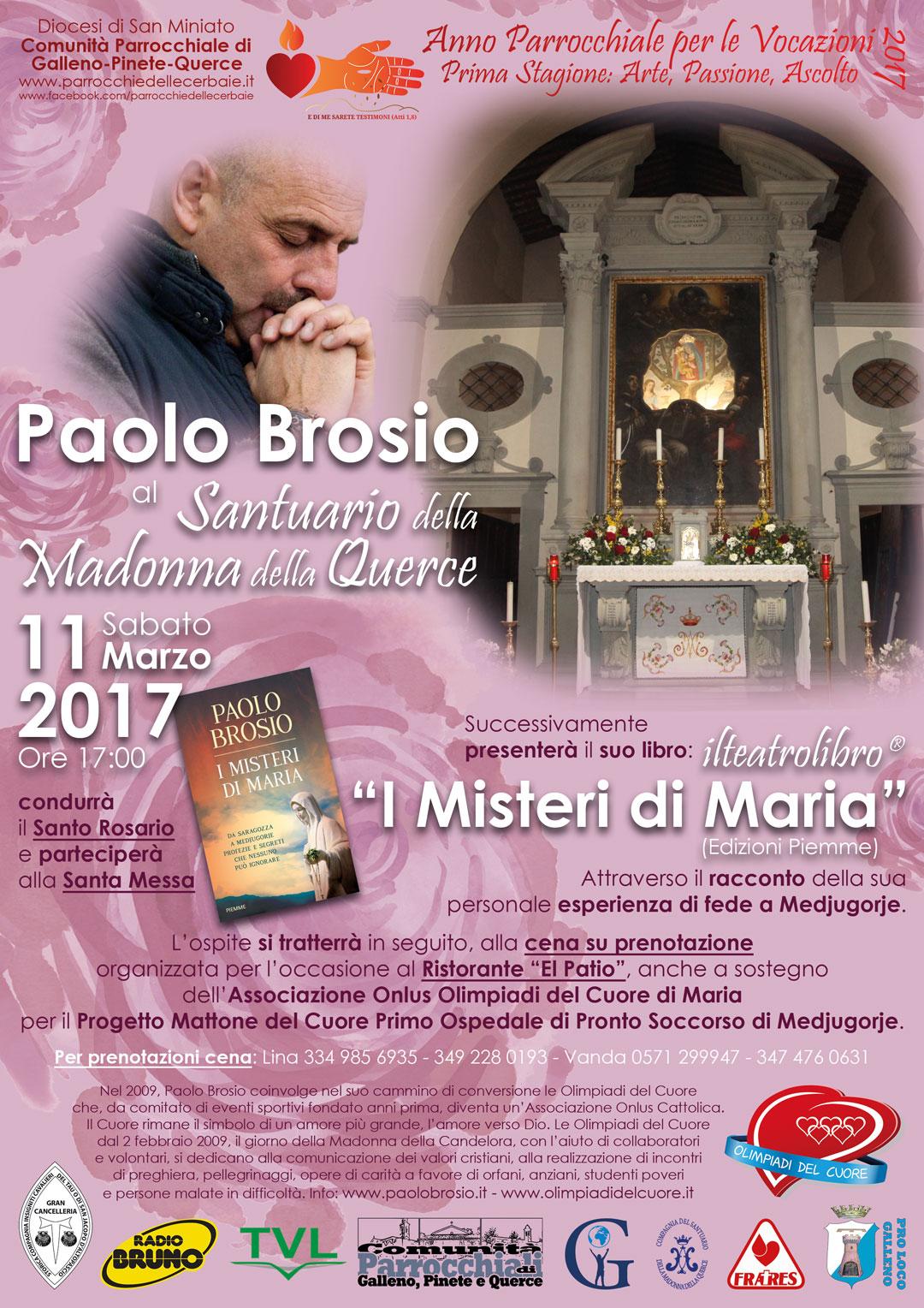Paolo Brosio al Santuario della Madonna della Querce 11-3-2017
