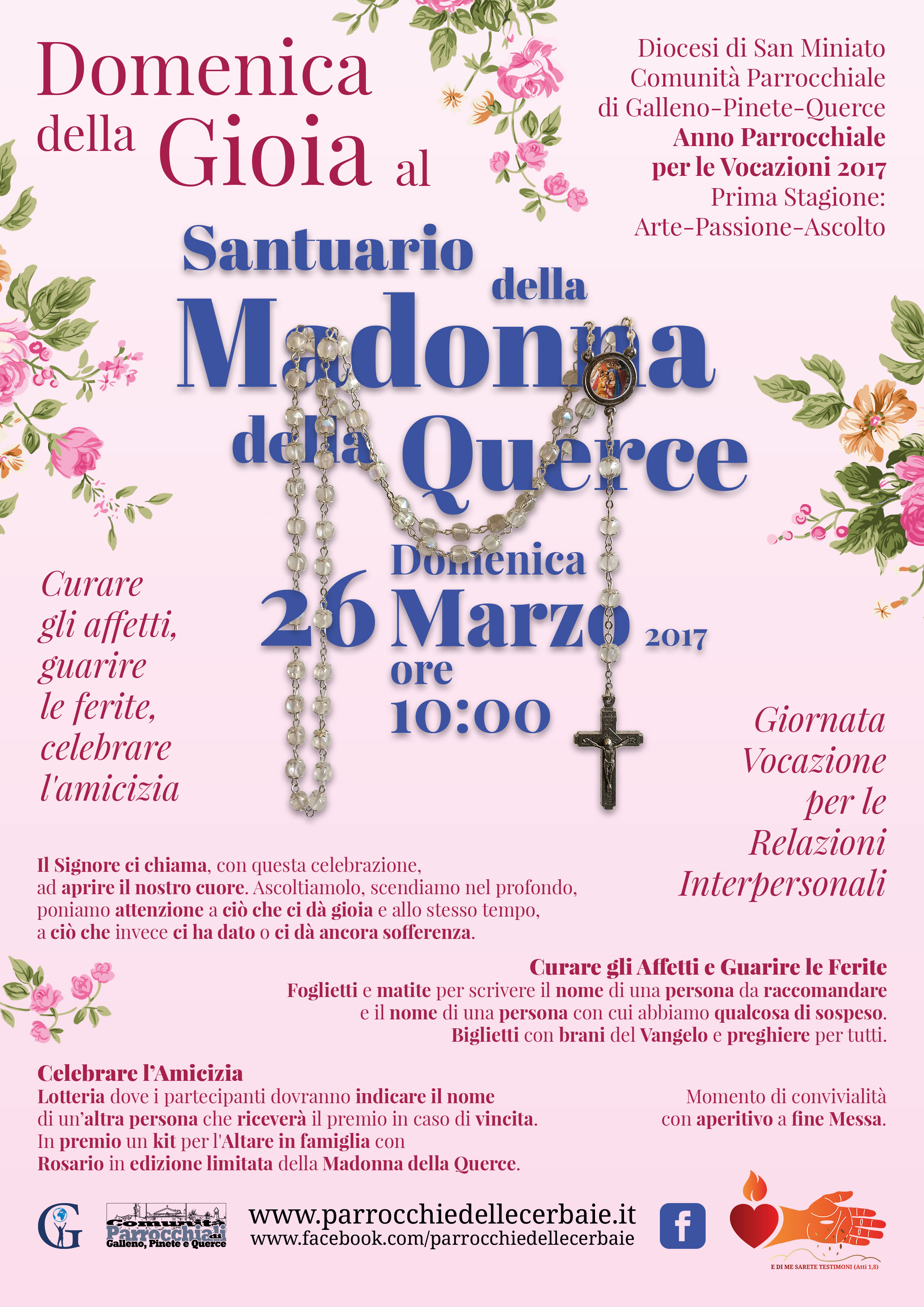 Domenica della Gioia al Santuario della Madonna della Querce 26-3-2017