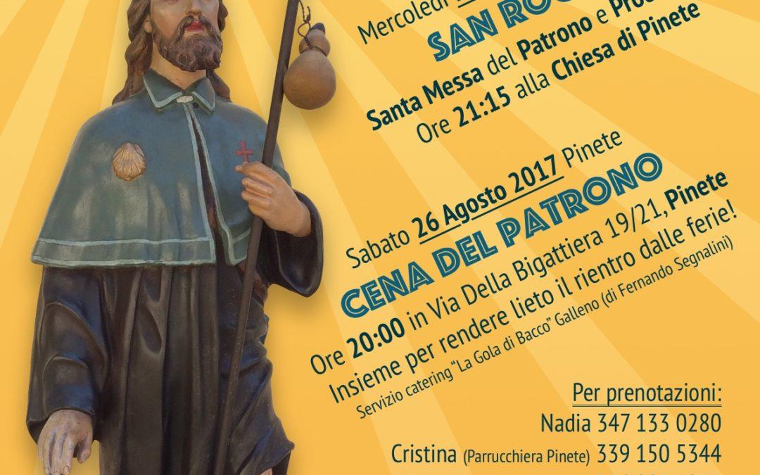 Festa di San Rocco Santo Patrono di Pinete 16-8-2017