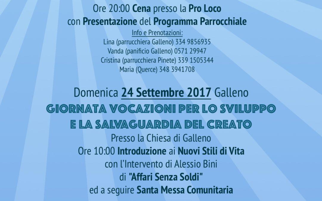 Anno Parrocchiale per le Vocazioni programma quarta stagione prima parte 16-9-2017