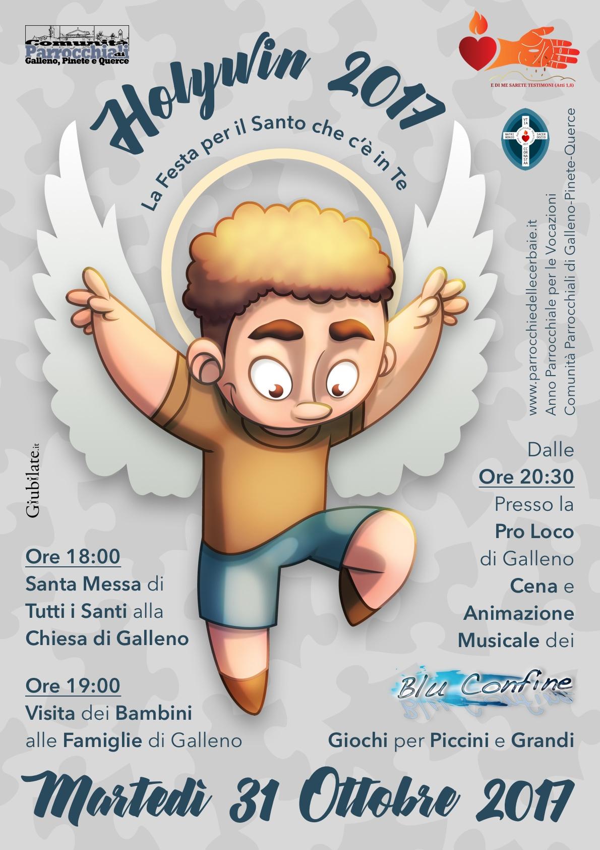 Festa di tutti i Santi Holywin con i Blu Confine 31-10-2017