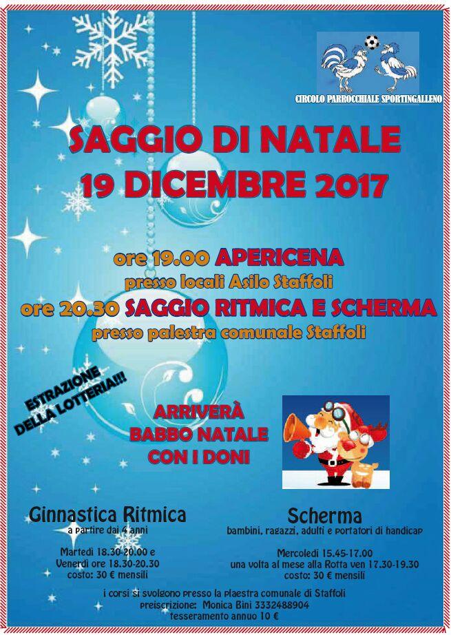 Saggio di Natale Sportingalleno 19-12-2017