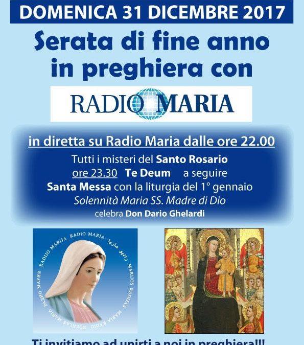 Serata di fine anno in diretta su Radio Maria