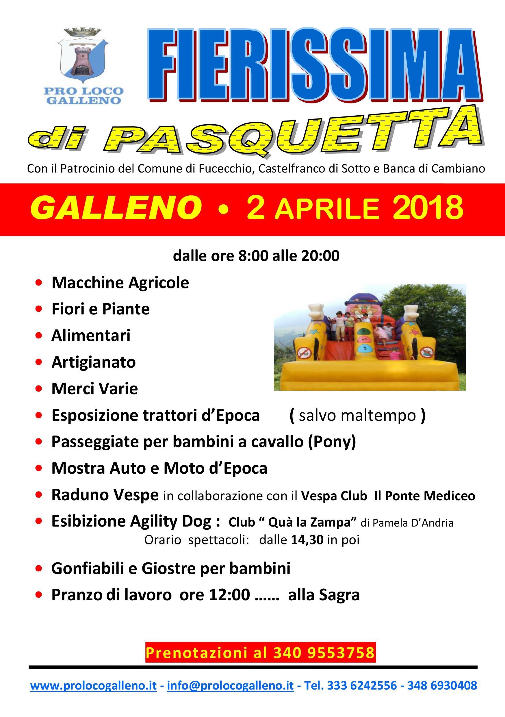 La Fierissima di Pasquetta 2018 a Galleno